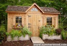 Palmerston Garden Sheds: Elegant Shed with Gable Roof Plans & Truss Designs