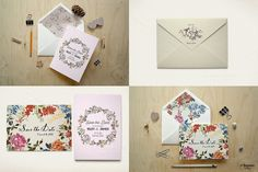 5x7 Card/Envelope/Objects Mock Up 1 by JSquarePresents on Creative Market