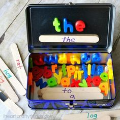 Travel fun- magnet spelling activity