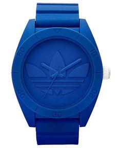 adidas Watch, Unisex Blue Silicone Strap