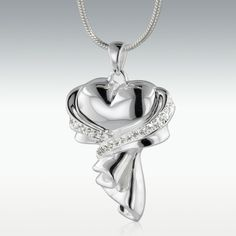 Wrapped In Love Sterling Silver Cremation Jewelry - Engravable