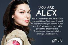 I took Zimbio's 'Orange Is the New Black' quiz and I'm Alex! Who are you? #ZimbioQuiz