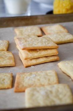HOMEMADE SALTINE CRACKERS Super easy recipe, ready to eat in 30 minutes. | In Jennie's Kitchen