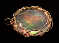 Fire Opal | Crystal clear Mexican fire opal.