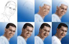 processo de pintura digital