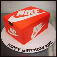 Nike Sneakers Box Cake Boys 16th Birthday Cakes For Teens 13th