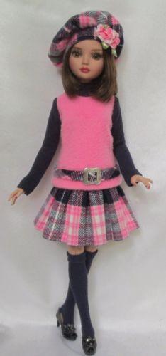"ELLOWYNE: PINK, PLAID AND OH, SO PRETTY! FOR 16""ELLOWYNE, by ssdesigns on eBay, SOLD 9/1/15  $68.99"
