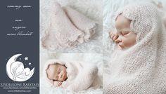 Adele  newborn blanket  luxury angora yarn  by MyLittleRarities