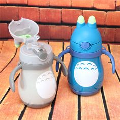 260ml Mini Cartoon Totoro Insulation Child Back To School Water Bottle Stainless Steel Bottle Travel Cups Vacuum Cup HJ70