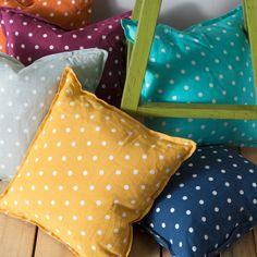 Surya Navy & Ivory Polka Dot Decorative Pillow #laylagrayce