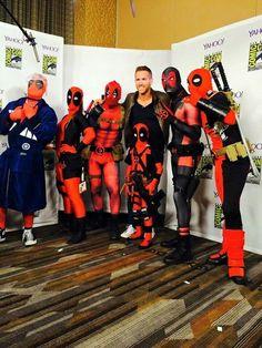 Deadwood photo op with Deadpool -ah mini Deadpool - AH! DEADPOOL WITH A TARDIS ROBE!<<<<BEAUTIFUL