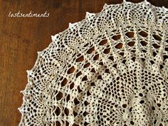 lostsentiments: Vintage Crochet Doily Pattern - Venus