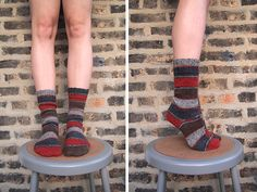 New socks from my favorite old pattern, Priscilla's Dream Socks, this time knit up with tinier needles and yarn. I usually use a sport weight but this time went with fingering. The yarn is Patons K...