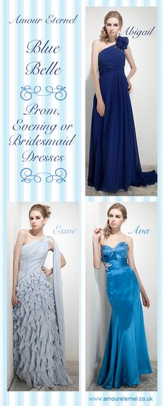 Blue Bridesmaid Dresses | Amour Eternel | www.amoureternel.co.uk