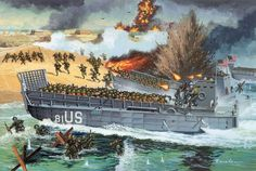 Lanchas de desembarco Military Art, Military History, Army Drawing, D Day Landings, Military Drawings, Landing Craft, Ww2 History, Naval, Army Vehicles