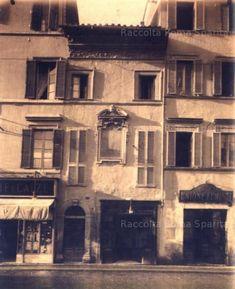 Via Alessandrina, facciate di case poi demolite (casa dell'Unione Fumisti) Inizio del 1900