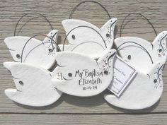 Primitive Dove Ornaments Set of 12 Personalized Baptism Favors
