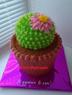 Dort krémový * narozeninový -  kaktus ♥