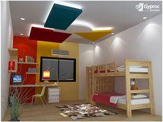 Modern kids bedroom ceiling designs modern kids ceiling lights home Bedroom False Ceiling Design, False Ceiling Living Room, Bedroom Ceiling, Ceiling Decor, Ceiling Ideas, Ceiling Lights, Restaurant Design, Dark Brown Bedrooms, Modern Kids Bedroom