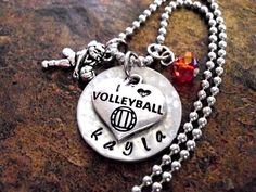 Volleyball Jewelry Volleyball Necklace by CharmAccents on Etsy, $23.00