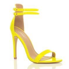 Sandali da Donna Tacco Alto a Stiletto Doppio Cinturnino: Amazon.it: Scarpe e borse