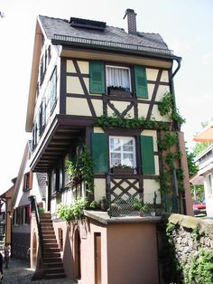 Gengenbach, Germany in the Black Forest region. This weekend! German Houses, Black Forest Germany, Medieval Houses, Wooden Buildings, Visit Germany, Most Romantic Places, Timber Frame Homes, Old Houses, Tiny Houses