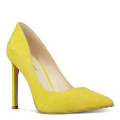 Yellow Suede Tatiana Pointed Toe Pumps | Nine West