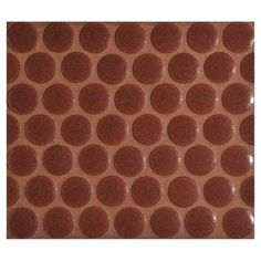 "Complete Tile Collection Penny Round Mosaic - Chambourd - Gloss, 3/4"" Round Glazed Porcelain Penny Mosaic, MI#: 165-Z1-250-004, Color: Chambourd"