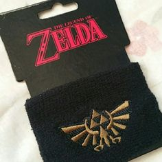 The Legend of Zelda Black Sweatband Wrist band Loot Crate exclusive. New. Never worn.  Terrycloth wristband with embroidered Triforce emblem. Loot Crate Accessories