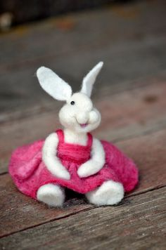 Bunny Needle felted rabbit for Easter by BearCreekDesign on Etsy