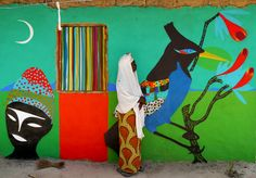 Mural and photo by Rimon Guimarães (a.k.a RIM). Kubuneh Village, Gambia.