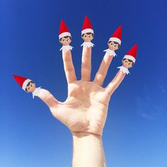 . . 5 fingers of Christmas #nataldotiago .
