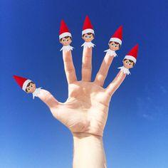 . . 5 fingers of Christmas #nataldotiago .