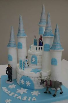 Frozen Castle Cake