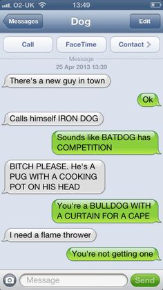 Texts with Dog