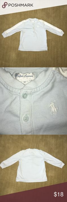 Ralph Lauren Boys 6M Blue Top EUC Adorable! Ralph Lauren Tops Tees - Long Sleeve