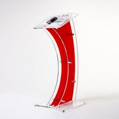 Z Shape Acrylic Poster Stand Perspex Stand Acrylic Lectern