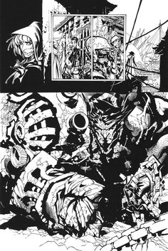 chris bachalo rough pencils   Punk #1 - Pencils - Chris Bachalo Inks - Richard Friend - Both Bachalo ...