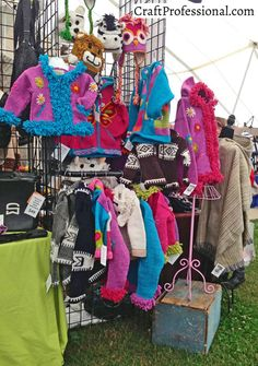 9 photos of knitting and crochet craft fair booths you 39 ll for Clothing display ideas for craft shows