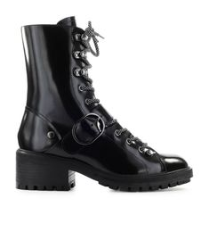 $336.01. EMPORIO ARMANI Boot Black Brushed Leather Combat Boot #emporioarmani #boot #midheel #leather #shoes Armani Black, Emporio Armani, Black Boots, Leather Shoes, Combat Boots, Fashion, Leather Loafers, Moda, Combat Boot
