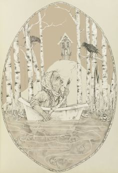 """Headline: """"Ask Baba Yaga: All I Can Think About Is Getting Married"""" (Friday, July 26, 2013) Image credit: Bony Legs by Joanna Cole ♛ Once Upon A Blog... fairy tale news ♛"""