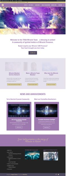 membership site built using Divi Theme and Instamember