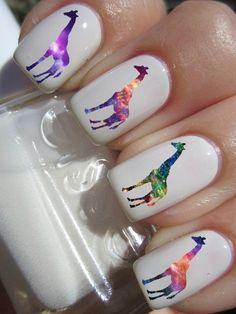 Pinegalaxy easy to use nail decals #ad, #NailArt, #Nailpolish