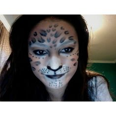 cheetah makeup found on Polyvore