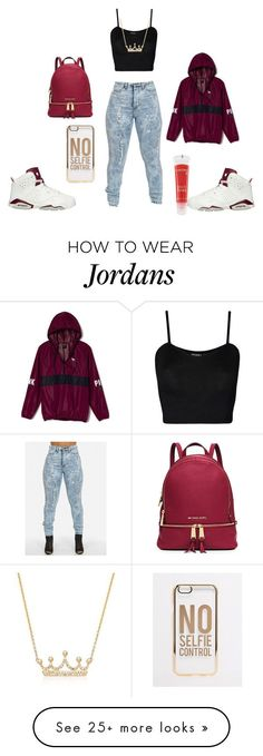 """Untitled #188"" by dris12-13 on Polyvore featuring moda, NIKE, WearAll, Victoria's Secret PINK, Lancôme, MICHAEL Michael Kors, Ross-Simons y ASOS"