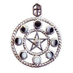 I found 'Sterling Silver Moon Phase Pentacle Pentagram Pendant - Wiccan Pagan Jewelry' on Wish, check it out!
