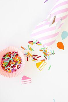 DIY Birthday Confetti Popper + Sprinkle Confetti | Studio DIY®