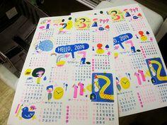 달력포스터 업데이트 :: 겨울엔 토스트가 좋아_ 2014 리소스텐실 달력 프로젝트의 업데이트 :: 텀블벅 Branding Design, Logo Design, Brand Manual, Calendar Design, Room Posters, Graphic Design Inspiration, Editorial Design, Zine, Graphic Illustration