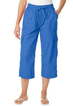Women's Plus Size Pants, Capri Style In Convertible Lengths (Royal Periwinkle,28 W) Woman Within http://www.amazon.com/dp/B00S3UOQRW/ref=cm_sw_r_pi_dp_8MGzvb15463G4