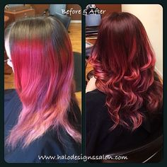 Hair Cut Colored \u0026 Styled By Amber Hall. Halo Designs Salon